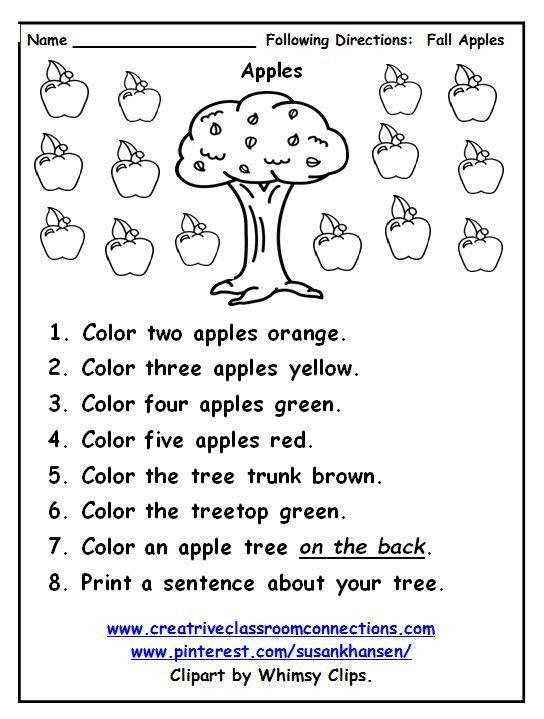 Follow Directions Worksheet Kindergarten Free Following Directions Follow Directions Worksheet Following Directions Worksheets Following Directions Activities Free following directions worksheets