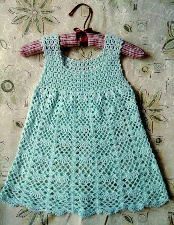 Crochet Baby Robe Pattern : Crochet girl dress for spring Crochet baby, Dresses for ...