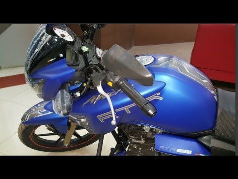 Tvs Apache Rtr 160 Matte Blue Series First Impression In