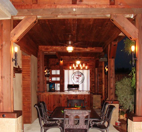 Man Cave Outside : Custom outdoor kitchen man cave projects by wrw