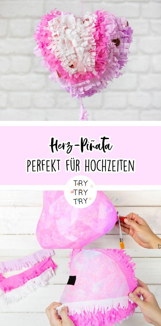 DIY herzige Hochzeits-Piñata (mit roombeez)