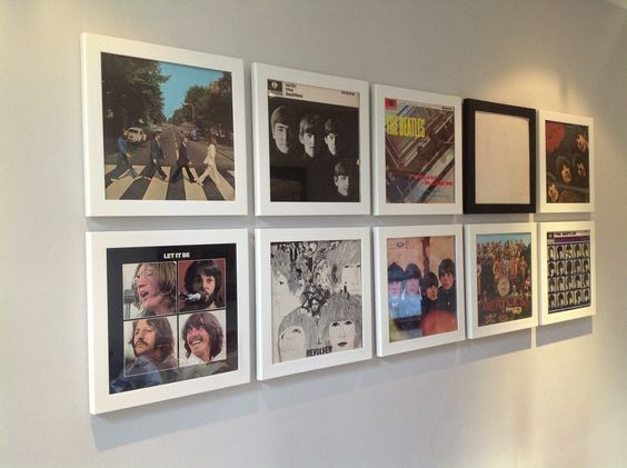 Cool Cheap Wall Art: Great Idea For Cheap Wall Art....old Album Covers In