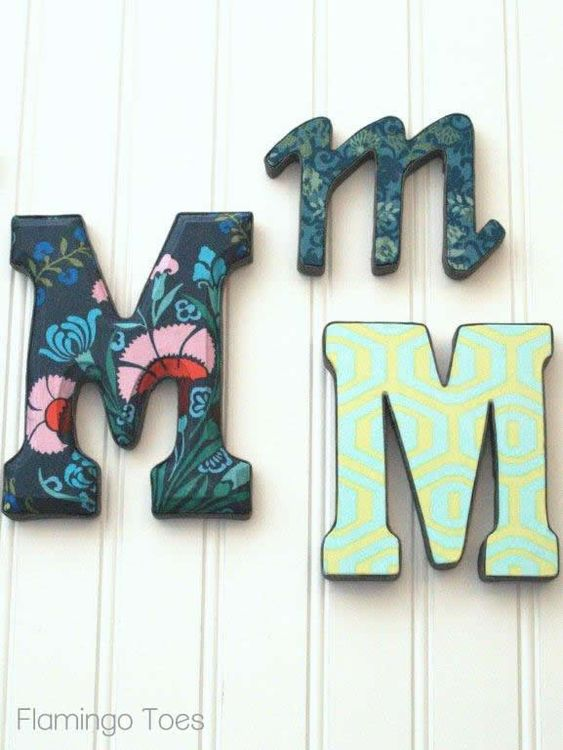 covering wall letters with fabric