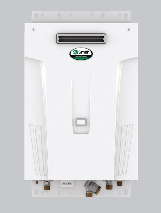 Media Water Heater >> Tankless Outdoor Condensing Water Heater Models from AO Smith installed in Johnson County Kansas ...