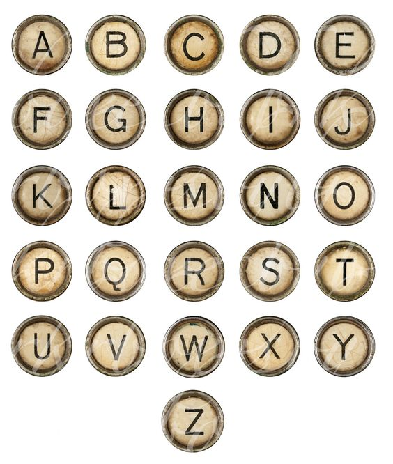 Digital Download Discoveries for VINTAGE ALPHABET from EasyPeach.com
