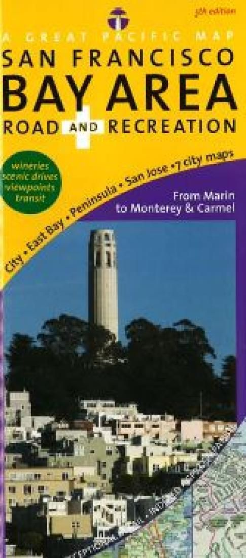 San Jose Monterey Map%0A San Francisco Bay Area  Road and Recreation by Great Pacific Recreation  u      Travel Maps