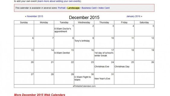 Create your own calendar, and print it for freehttp\/\/www - how to create your own calendar