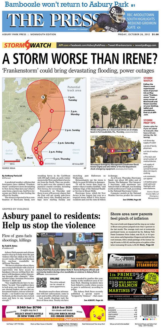 Asbury Park Press Oct 26 2012 Asbury Moving To Florida Asbury Park