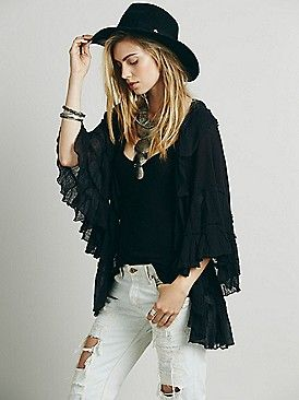 Ruffle Trouble Robe from Free People