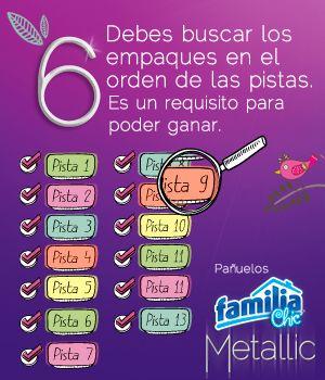Pañuelos Familia® Chic Metalic - instrucción 6