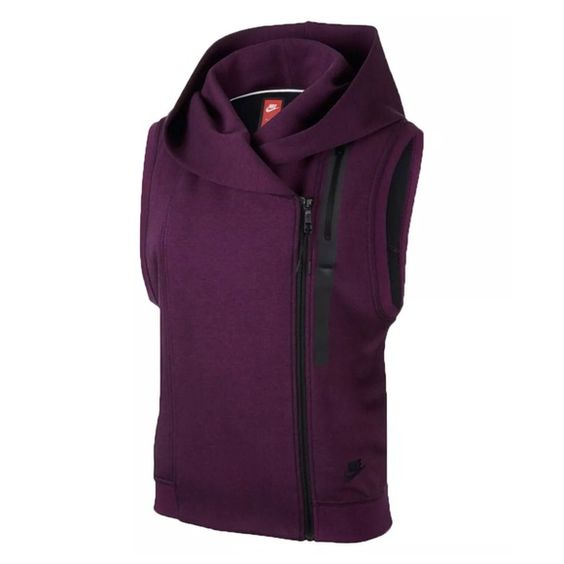 NWT NIKE Plum Cape Vest! Brand new with tags! I love this cape! I have one myself and I am selling my sister's. She purchased it originally from the Nike store. Any questions, please ask! Size small. No trades. Nike Tops Sweatshirts & Hoodies