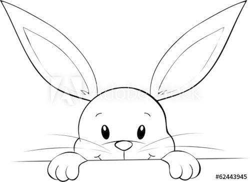 Lunzendes Kaninchen Kaufen Sie Diese Vektorgrafik Und Finden