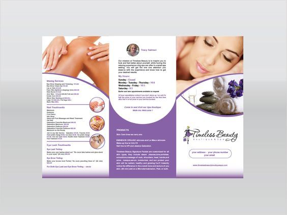 Information is on spa brochure designs is key Spa Brochure - spa brochure
