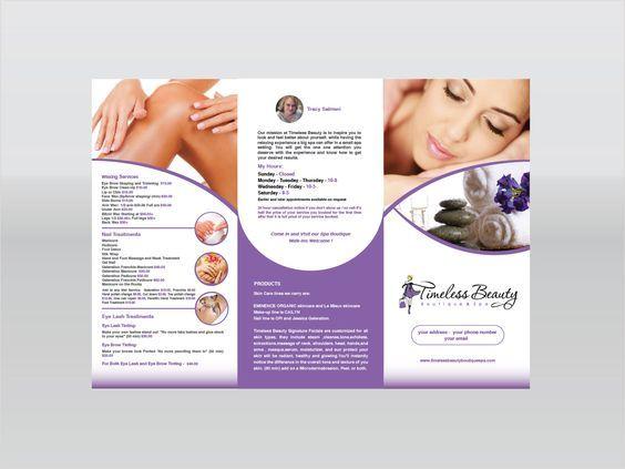 Information is on spa brochure designs is key Spa Brochure - spa brochure