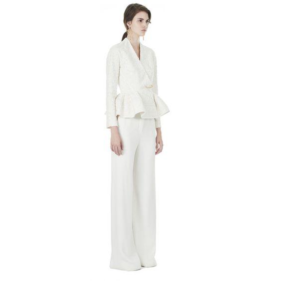 Balenciaga High Waisted Pants ($1,275) ❤ liked on Polyvore featuring pants, ecru, white pants, white trousers, balenciaga, high waisted pants and highwaist pants