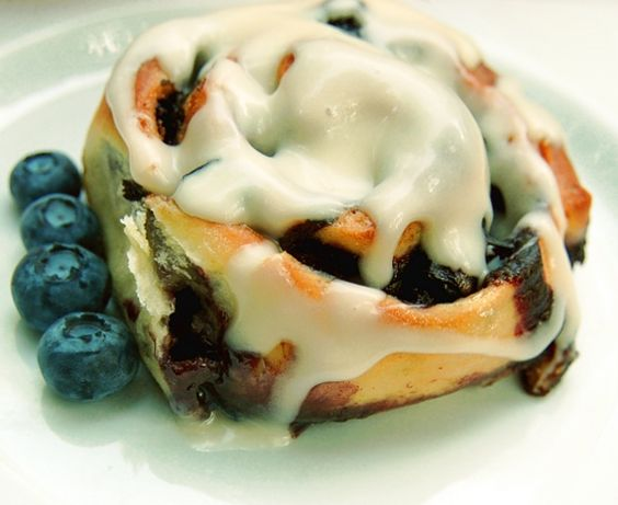 Blueberry Cinnamon Buns with Cream Cheese Frosting