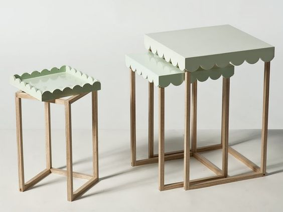 nesting tables :: love the tables to trays options!