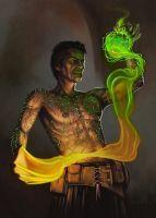 Tattooed Sorcerer by DeanSpencerArt