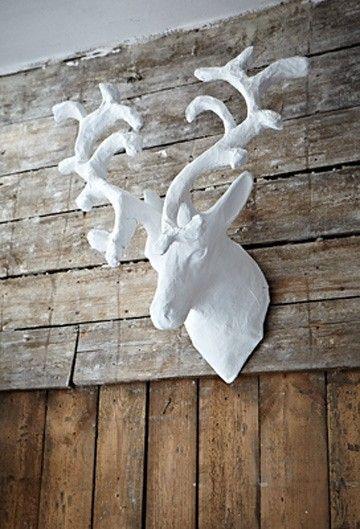 dekoracje - na ścianę-Biały Jeleń