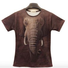 Camisa 3D estampa elefante