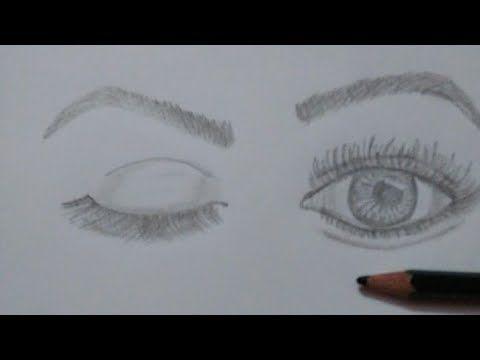 رسم عيون خطوه بخطوة للمبتدئين Eye Drawing Youtube Easy Drawings Drawings Youtube