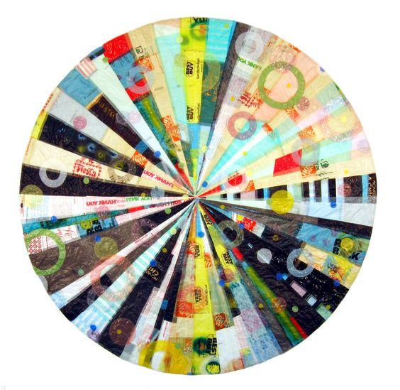 "Saatchi Online Artist: Virginia Fleck; Other, 2005, Assemblage / Collage ""Hub Mandala""  Austin, TX"