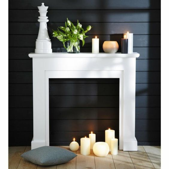 la fausse chemin e cr era des moments inoubliables pendant les f tes de no l fireplaces fake. Black Bedroom Furniture Sets. Home Design Ideas