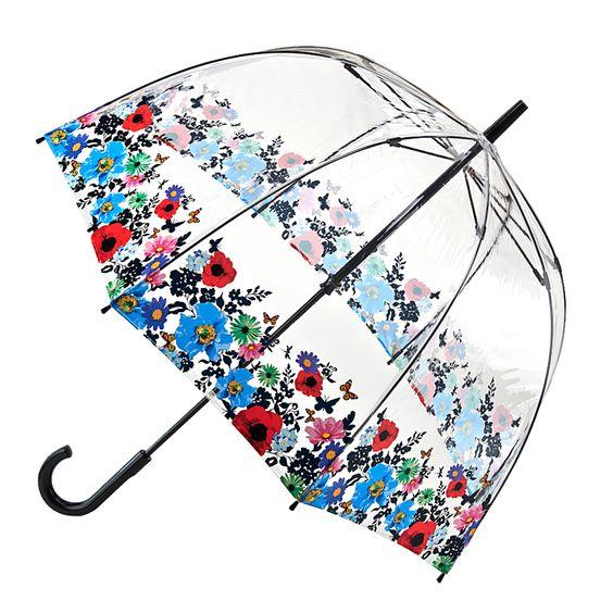 【送料無料】英国女王エリザベス2世陛下ご愛用の傘イギリス/エリザベス女王/英国王室御用達/ロイヤルワラント/傘/雨傘/ビニール傘。FULTON / フルトン傘Birdcage-2 Wild Flowersバードケージ-2 ワイルド フラワーズ(マルチカラー)