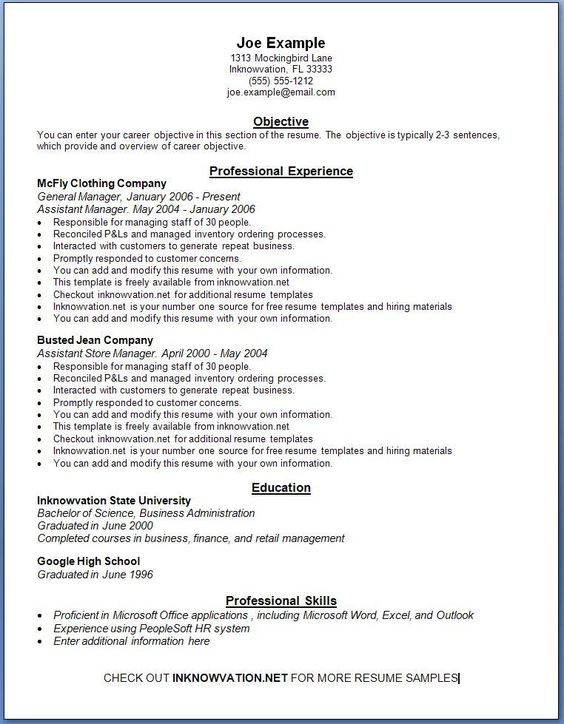 free resume samples online sample resumes
