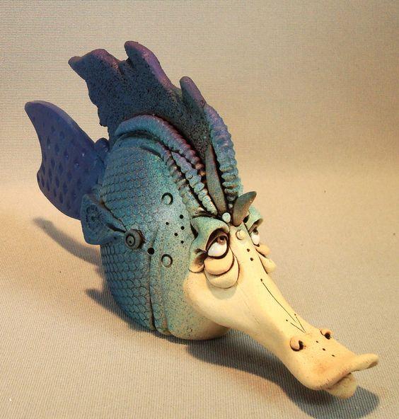 Ceramic fish sculpture ceramics sculpture and fish for Ceramic fish sculpture