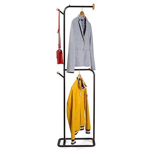 Tatkraft Tone Kleiderstander Kleiderbugel Stander Stahl Holz 48 X 174 5 X 28 Cm Kleiderbugel Stander Kleiderstander Kleiderbugel