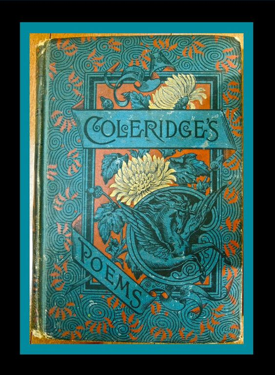 COLERIDGES POEMS 1889 GILT Cover Illustration in Red  Blue Cloth Boards Beautiful Pan on the  Spine and Pegasis on the Cloth Board Cover OculusEye | Etsy