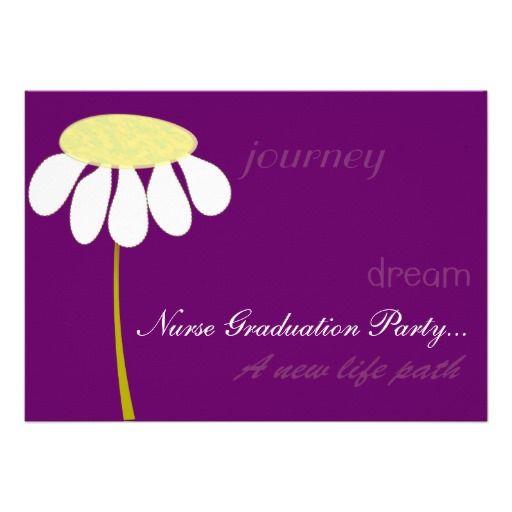 Nurse Graduation Party Invitations Daisy Grapezazzle – Zazzle Party Invitations