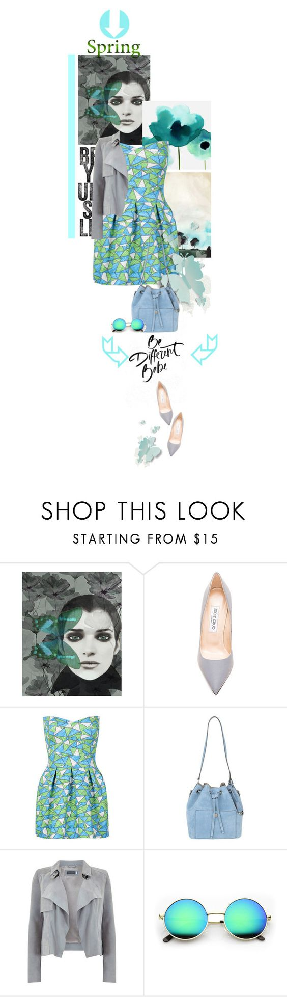 """""""Be different"""" by no-where-girl ❤ liked on Polyvore featuring Jimmy Choo, WithChic, Michael Kors, Mint Velvet and springdress"""