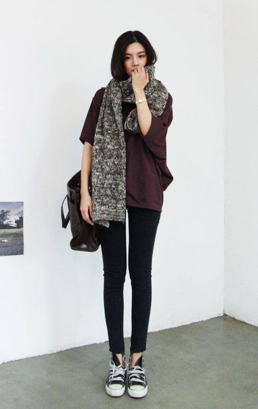 Ulzzang Fashions Korean Korean Style Pinterest Grey Korean Fashion And Casual
