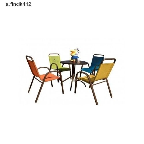 Kids 5-Piece Outdoor Dining Set, Multicolored Weather Resistant