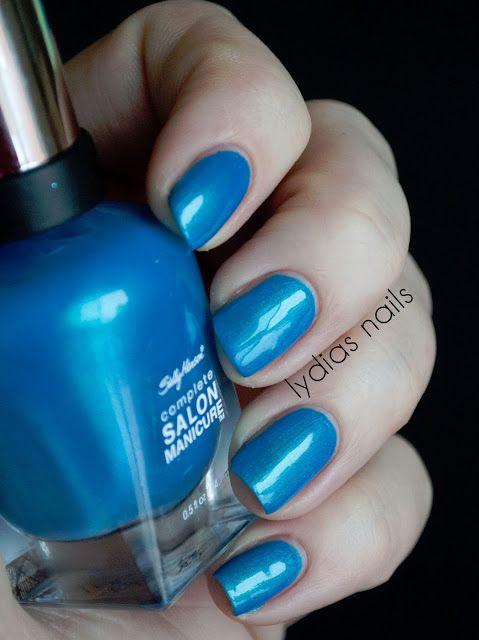 Lydia's Nails: Sally Hansen Complete Salon Manicure Calypso Blue   My ...