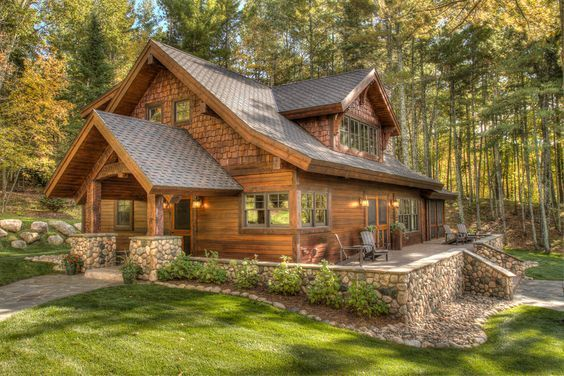 20 Ravishing Rustic Home Exterior Designs You Will Obsess Over Woodstone In 2020 Rustic Houses Exterior Cottage Exterior Rustic Exterior