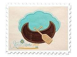 Canoe Applique - 3 Sizes! | Boats | Machine Embroidery Designs | SWAKembroidery.com Katelyn's Kreative Stitches