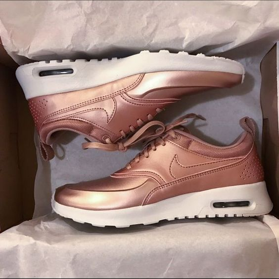 new nike air max thea se rose gold size 7 nwt. Black Bedroom Furniture Sets. Home Design Ideas