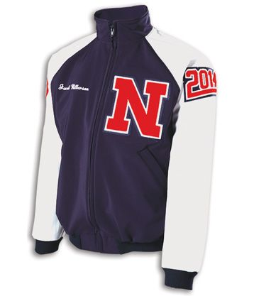 custom varsity softshell jacket