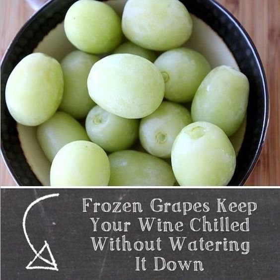 Frozen grapes keep your wine chilled without watering it down.
