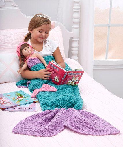 Mermaid Fantasy Blanket By Rebecca J. Venton - Free Crochet Pattern - (redheart)