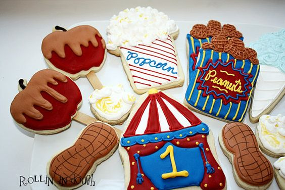 Circus Cookies Carnival Cookies Circus Tent by rollinindough