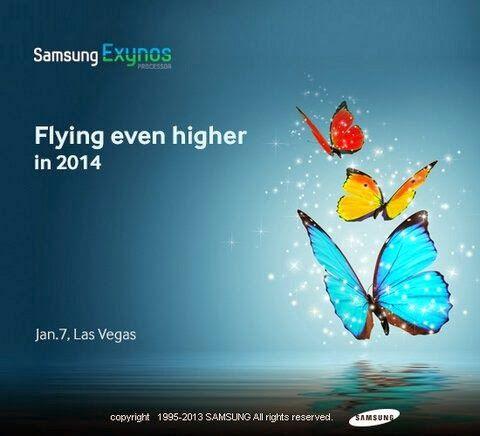 Se espera que CES 2014 traiga grandes novedades y Samsung revela que el siguiente procesador Exynos estará mostrando algunas de sus novedades en Las Vegas durante su conferencia de prensa el 7 de enero en CES.