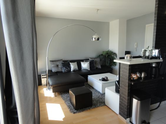 Deco salon gris noir hogar pinterest d co et salons - Deco salon gris et noir ...