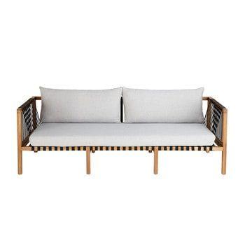 3 Sitzer Gartensofa Aus Massivem Akazienholz Naxos Gartensofa Gartensofa Holz Outdoor Sofa
