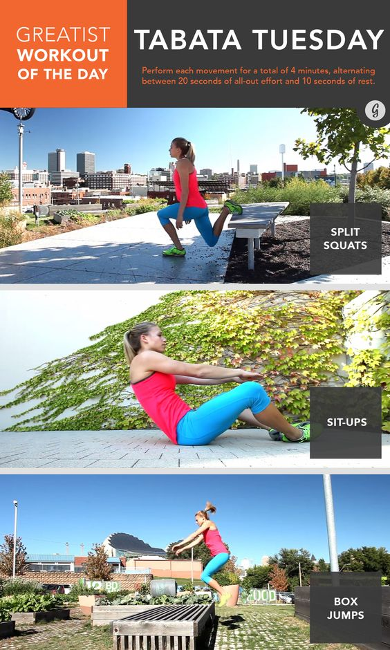 Are you ready for #Tabata Tuesday? #bodyweight #workout #greatist