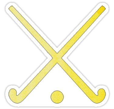 Field Hockey Yellow Sticker By Hcohen2000 In 2020 Field Hockey Stickers Field Hockey Hockey