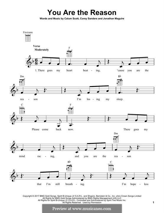 You Are The Reason With Images Sheet Music Sheet Music Notes